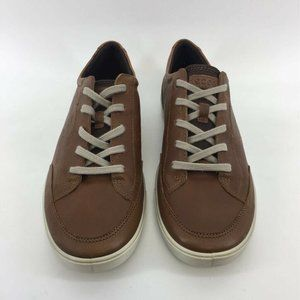 Ecco Mens Sneaker Shoes Brown Lace Up Low Top